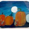 "Pumpkins Howling at the Moon Oil.  12""h x 10""w.  2014."
